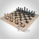 Chess Set (Marina Marble with Jade Black Marble)