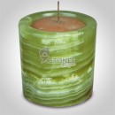 Multi Green Onyx Candle Holder