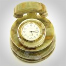 Multi Green Onyx Table Clock