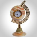 White Onyx Table Clock