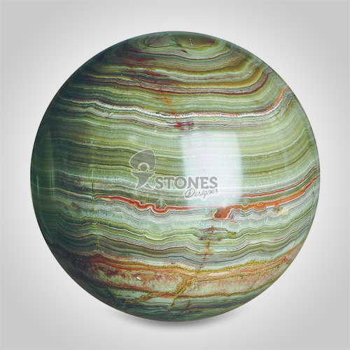 Multi green onyx sphere round ball quot inch stone