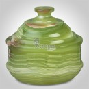 Afghan Green Onyx Candy Pot Candy Jars