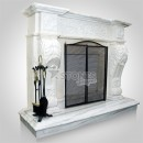 "Ziarat White Marble Fireplace 52"" X 42"" (Inch)"